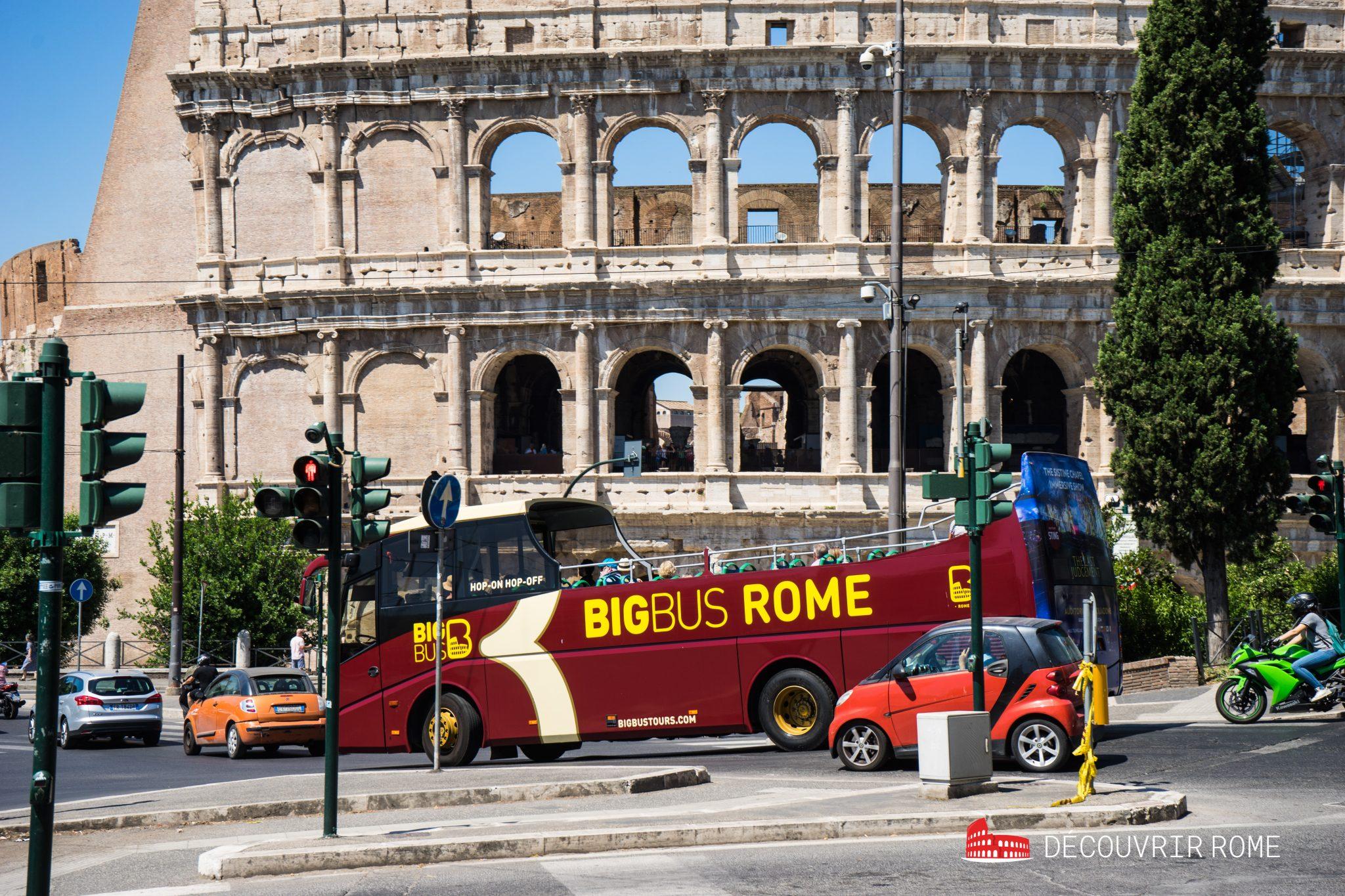 Rome en famille visite en bus
