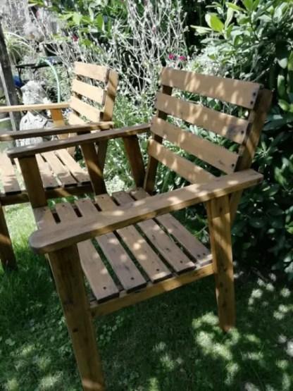 Massive Holz Gartenstühle