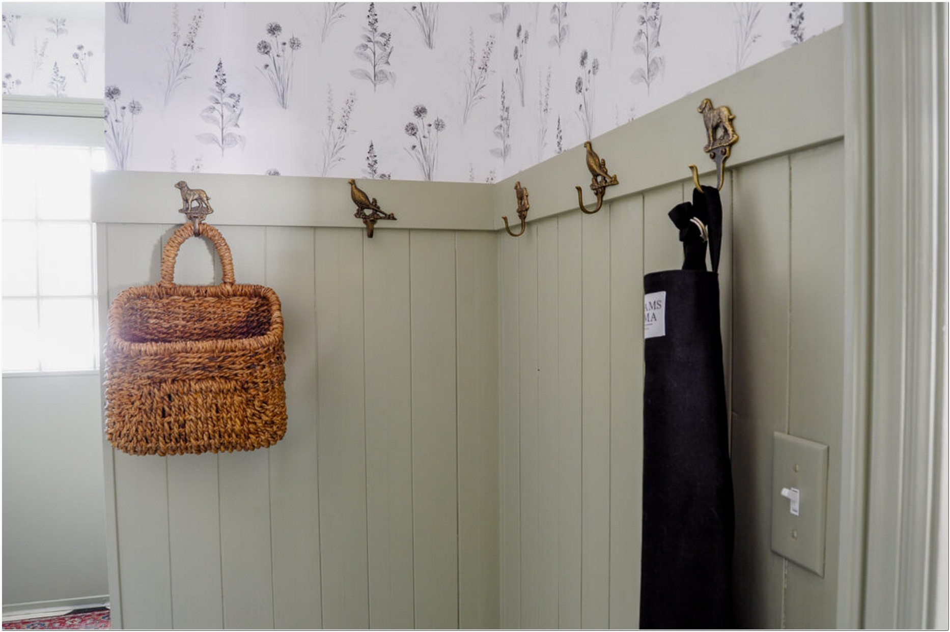 Before and After: The Ordinary, Messy Mudroom Becomes a Charming Cottage Entrance