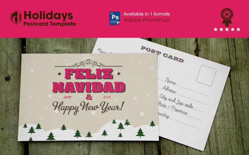 Adobe photoshop is the name of a leading paint program from adobe systems, inc. The Best Free Holidays Postcard Template Decruz Design