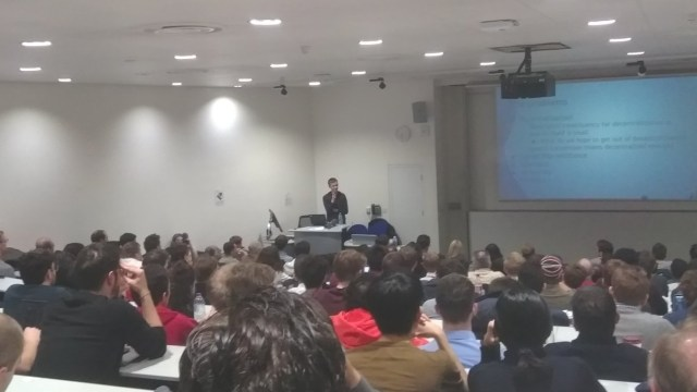 Vitalik speaking at Imperial College London