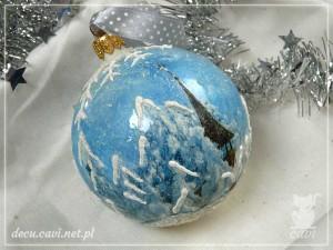 bombka konturówka śnieg kościółek