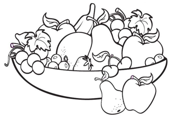 gambar buah buahan untuk diwarnai