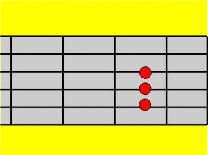 Gambar kunci gitar A