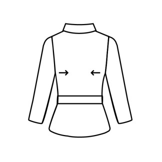 casaco de pele reduzir lados