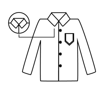 camisa virar colarinho