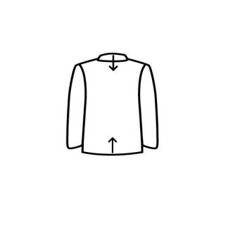 casaco tirar excesso de gola