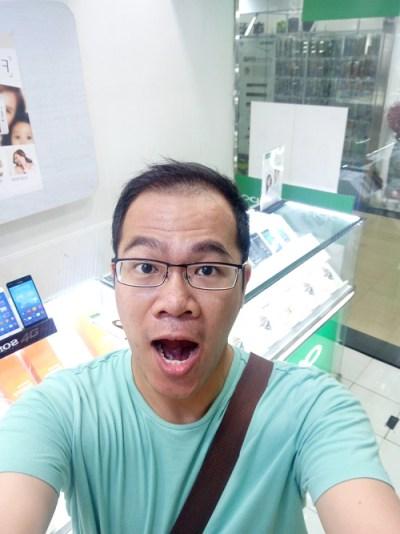Selfie pakai OPPO F1 Plus