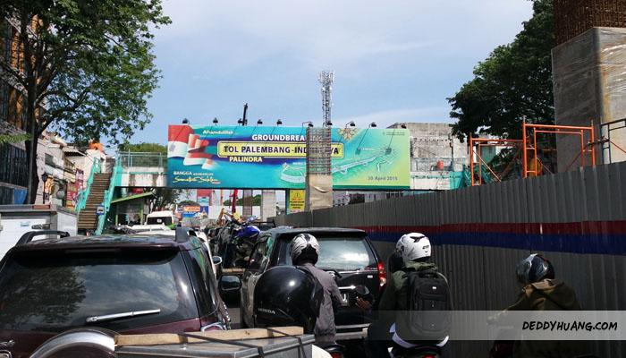 Bersabar dengan kemacetan demi Palembang lebih baik