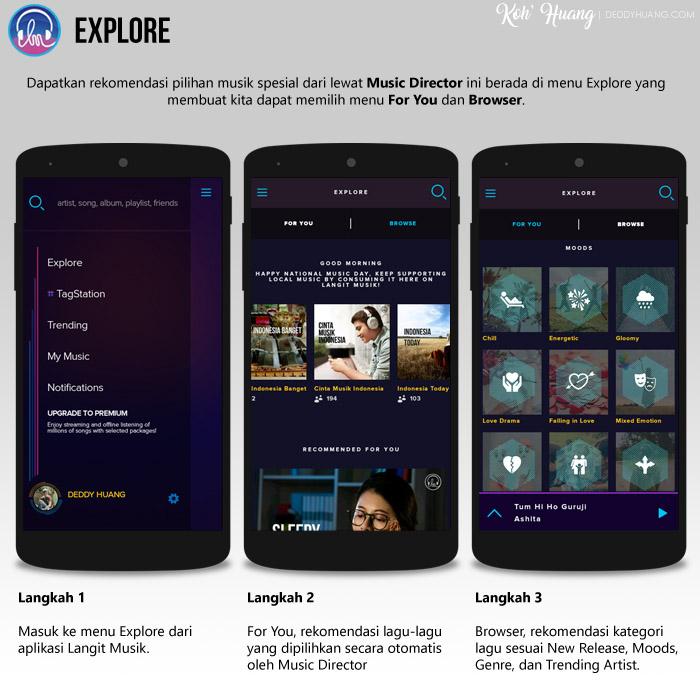 menu explore langit musik - Langit Musik, Cara Keren Nikmati Musik Digital Secara Legal