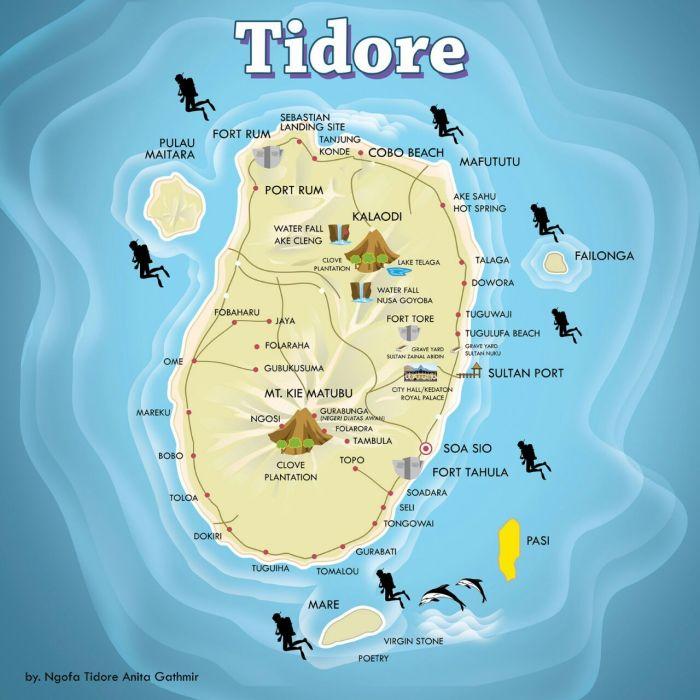 peta tidore1 - Visit Tidore Island - Merekam Jejak Wisata Pulau Rempah
