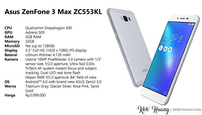 speksifikasi asus zenfone 3 max1 - Datang Ke Palembang Enaknya Cari Makan Apa?