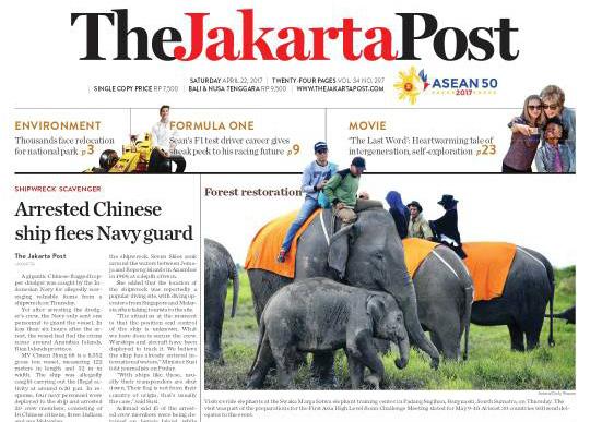jakarta post headline - Suaka Margasatwa Padang Sugihan, Potret Eksistensi Gajah Sumatera