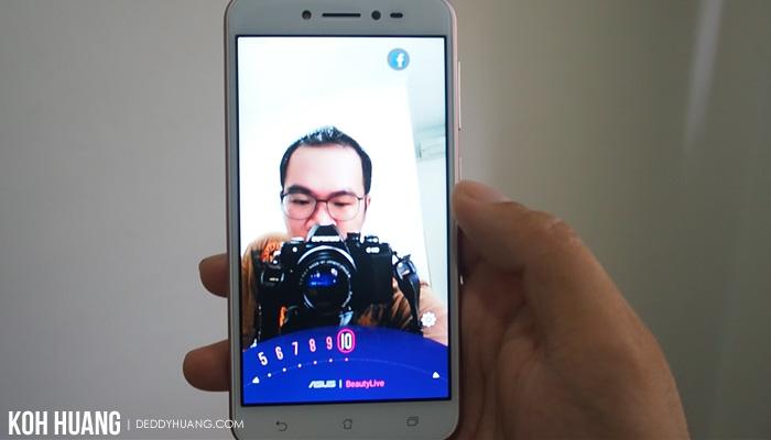 hasil beauty live - Review : ASUS ZenFone Live ZB501KL, Bagus Untuk Live Broadcasting