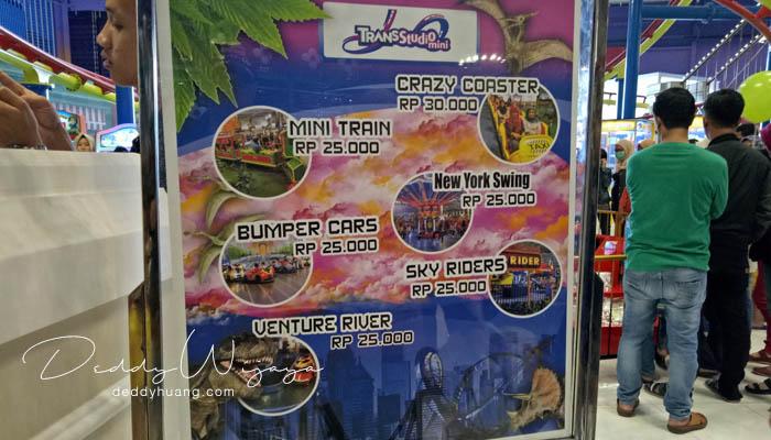harga tiket bermain trans studio mini palembang - Baru! 2 Tempat Bermain Anak di Palembang