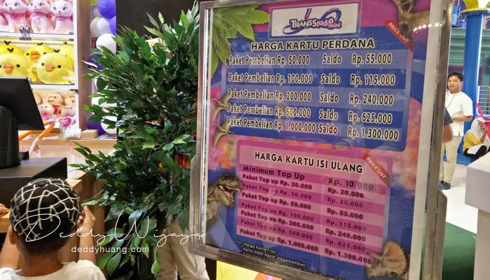 harga top up kartu trans studio - Baru! 2 Tempat Bermain Anak di Palembang