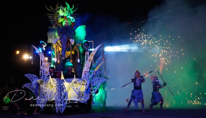 wayang night jogja carnival 2017 - Wayang Jogja Night Carnival 2017, Malam Puncak HUT 261 Yogyakarta
