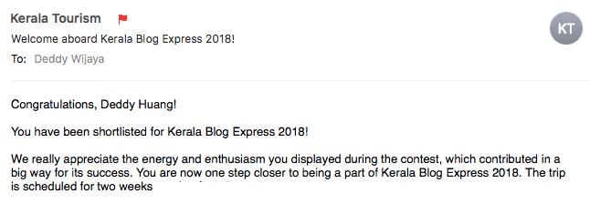 email - Kerala Blog Express 5, Terima Kasih Atas Dukungan Kalian