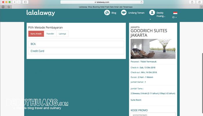 cara booking lalalaway 05 - Pengalaman Booking Hotel Mewah Lewat lalalaway.com