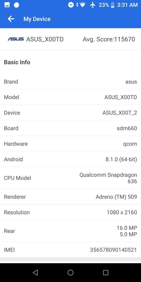 antutu zenfone max pro m1 031 - Kini Eranya Smartphone Gaming ZenFone Max Pro M1