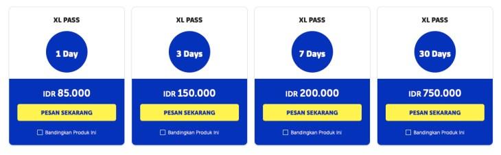 paket data roaming xl pass