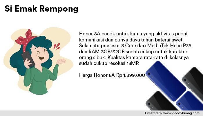 harga honor 8a