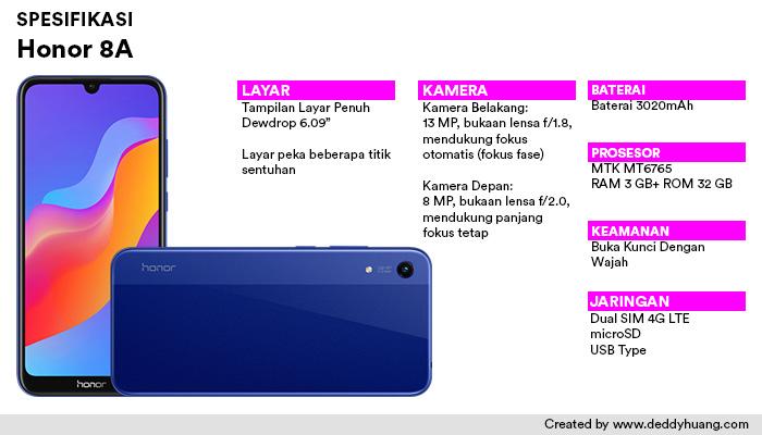 spesifikasi honor 8a - Rekomendasi Smartphone Ramadhan Harga Murah