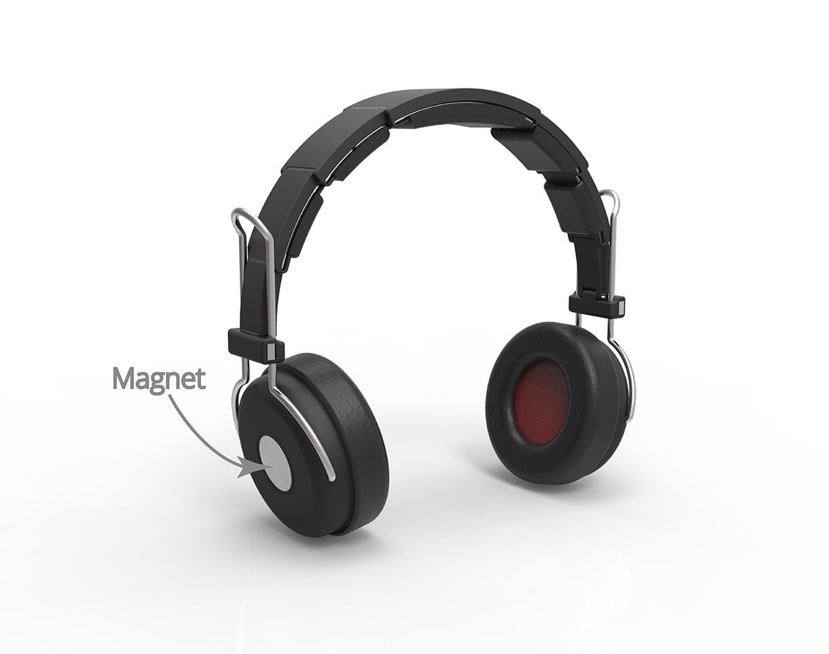 Designer Headphones magnet lock