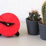 Red 3D printed clock