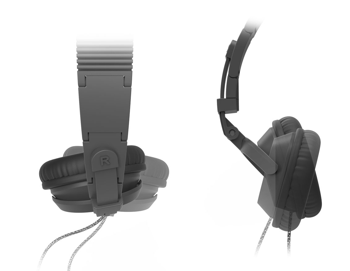 Earcup mobility of 3D printed headphones