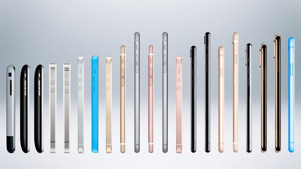 All iPhone models lined up