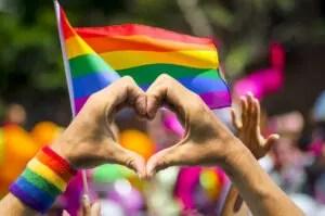 heart with rainbow flag