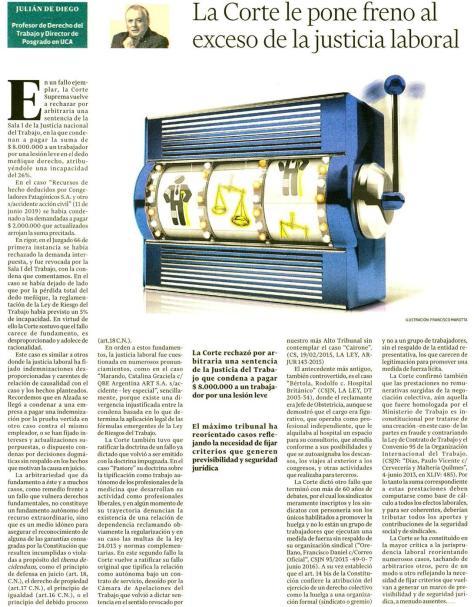El Cronista 25.06.19 - Julián de Diego, Opinión
