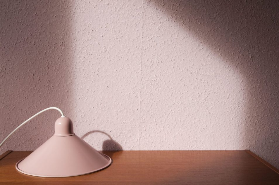vintage roze hanglamp