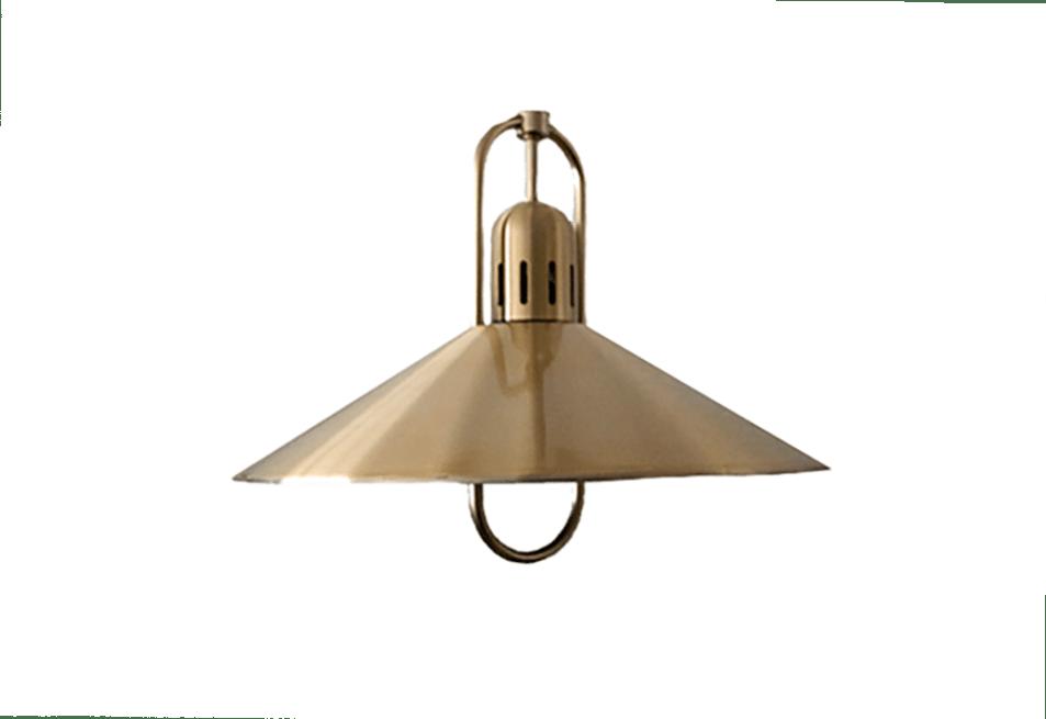 gouden aluminium hanglamp