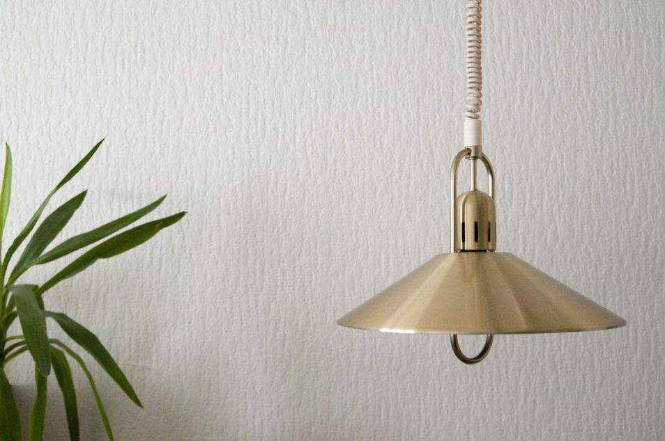 messing gouden hanglamp deens design