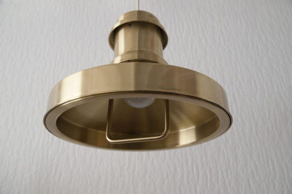 messing gouden hanglamp deens design skibslampe