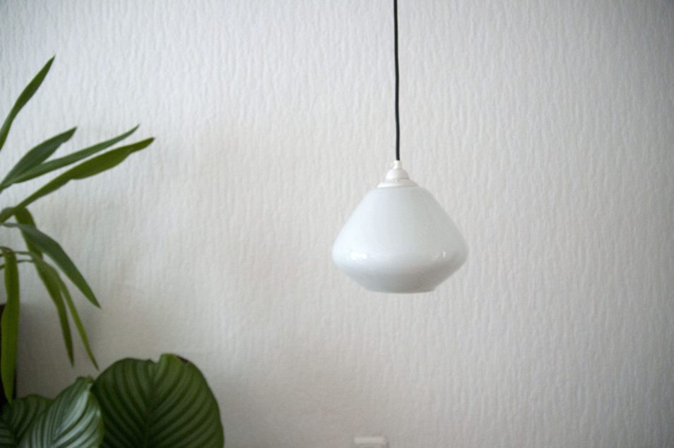 deense vintage hanglamp glas