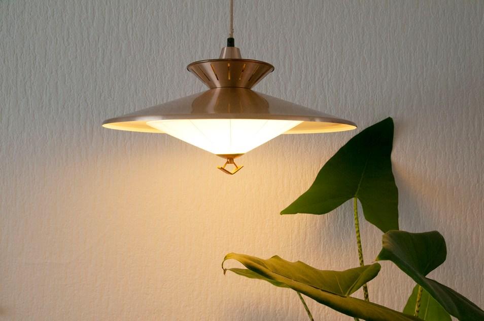 Koperen design hanglamp