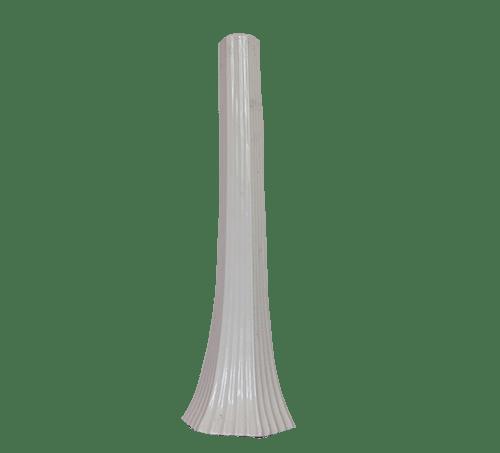 hoge witte taps vaas