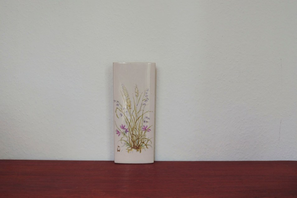 verwarmingsbakje paarse bloemen