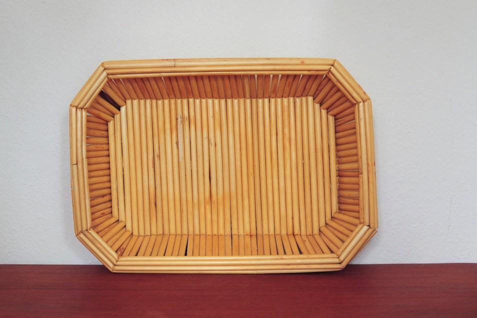 bamboe rechthoekige dienblad