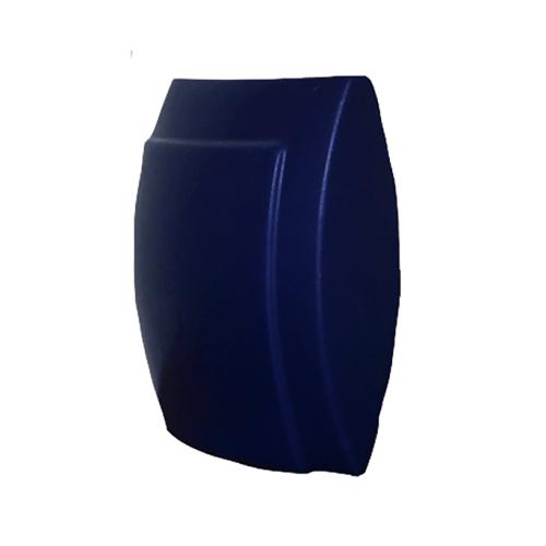 platte blauwe vaas