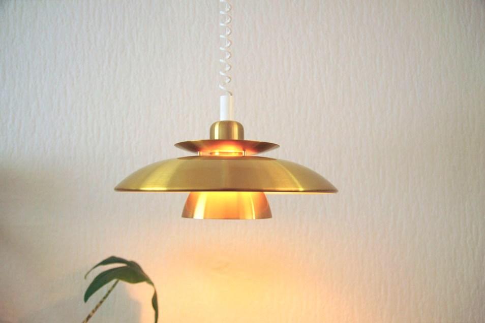 gouden messing hanglamp
