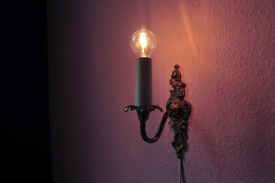 set messing wandlampjes