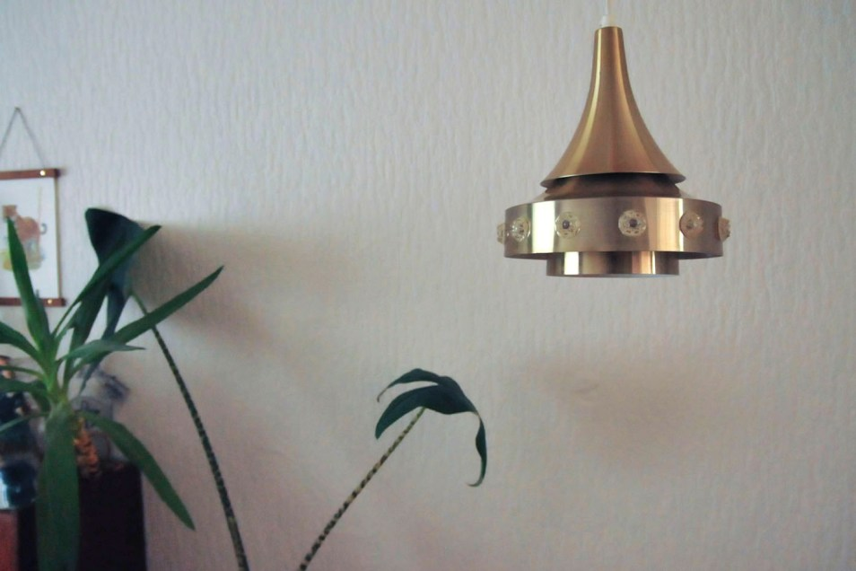Messing hanglamp space age