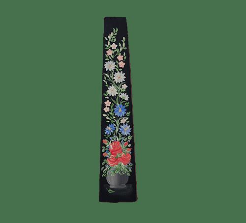houten wandplankje bloemen