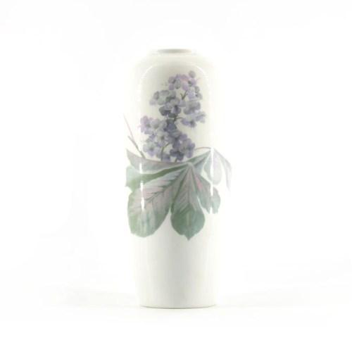 hoge vaas paarse pastel bloemen