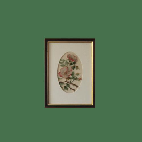 medium houten lijst roze bloemen