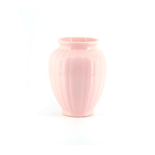 vintage lichtroze vaas